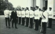 Italian Ambassador designate Dr Roberto De Cardona inspecting Guard of Honour on his arrival to present credentials at the Istana