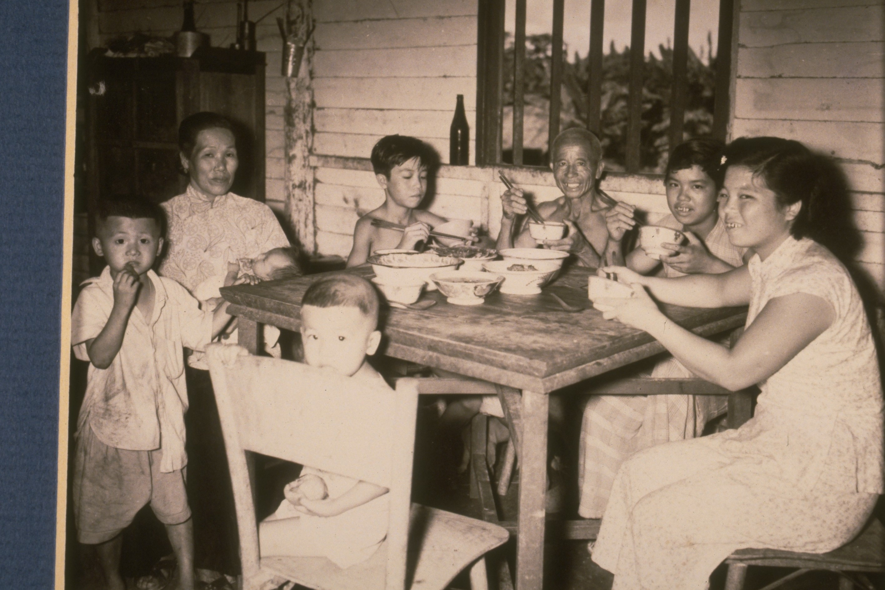 Family dinner in a Chinese kampung house