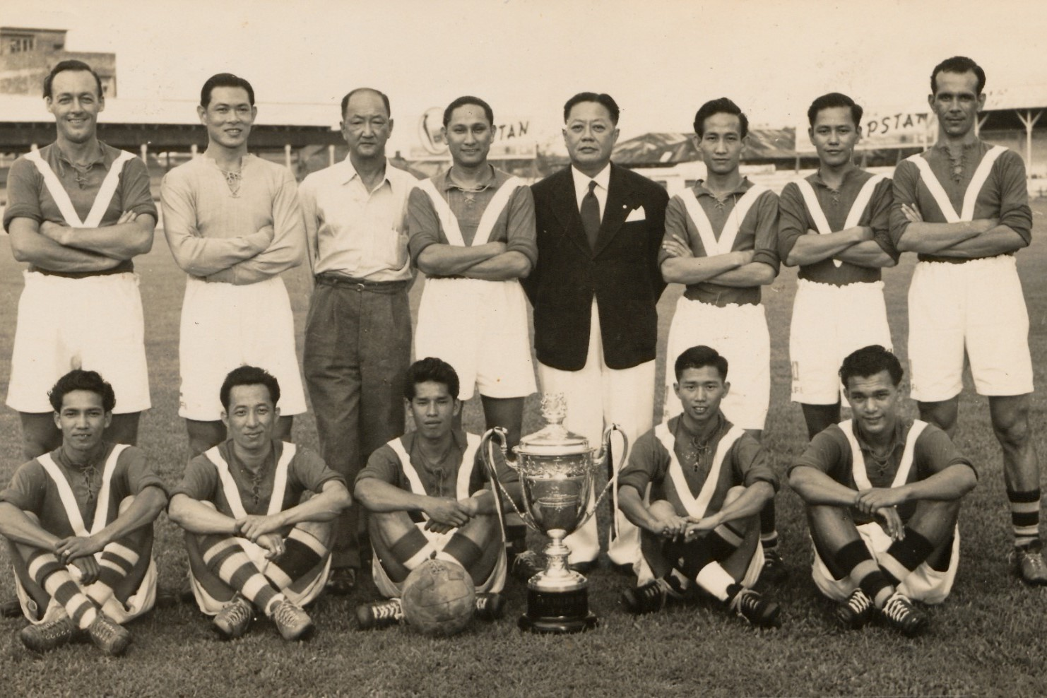 Singapore Team that won the Malaya Cup 1952