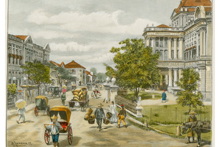 Painting of Singapore in Olden Days