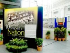 10 Years That Shaped A Nation exhibition