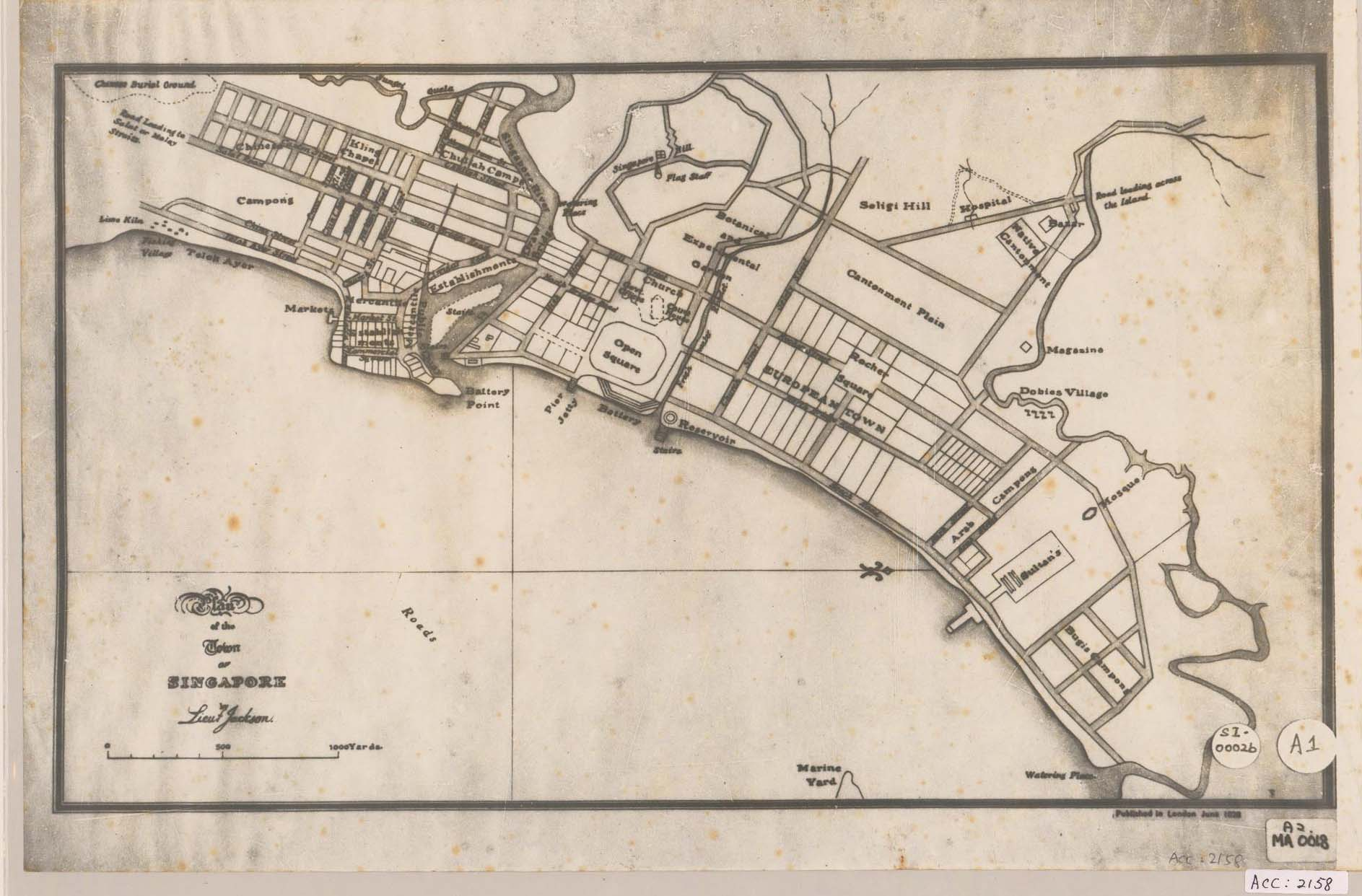 Farquhar Map of Singapore