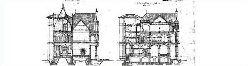 Cross section of new bank building, Collyer Quay