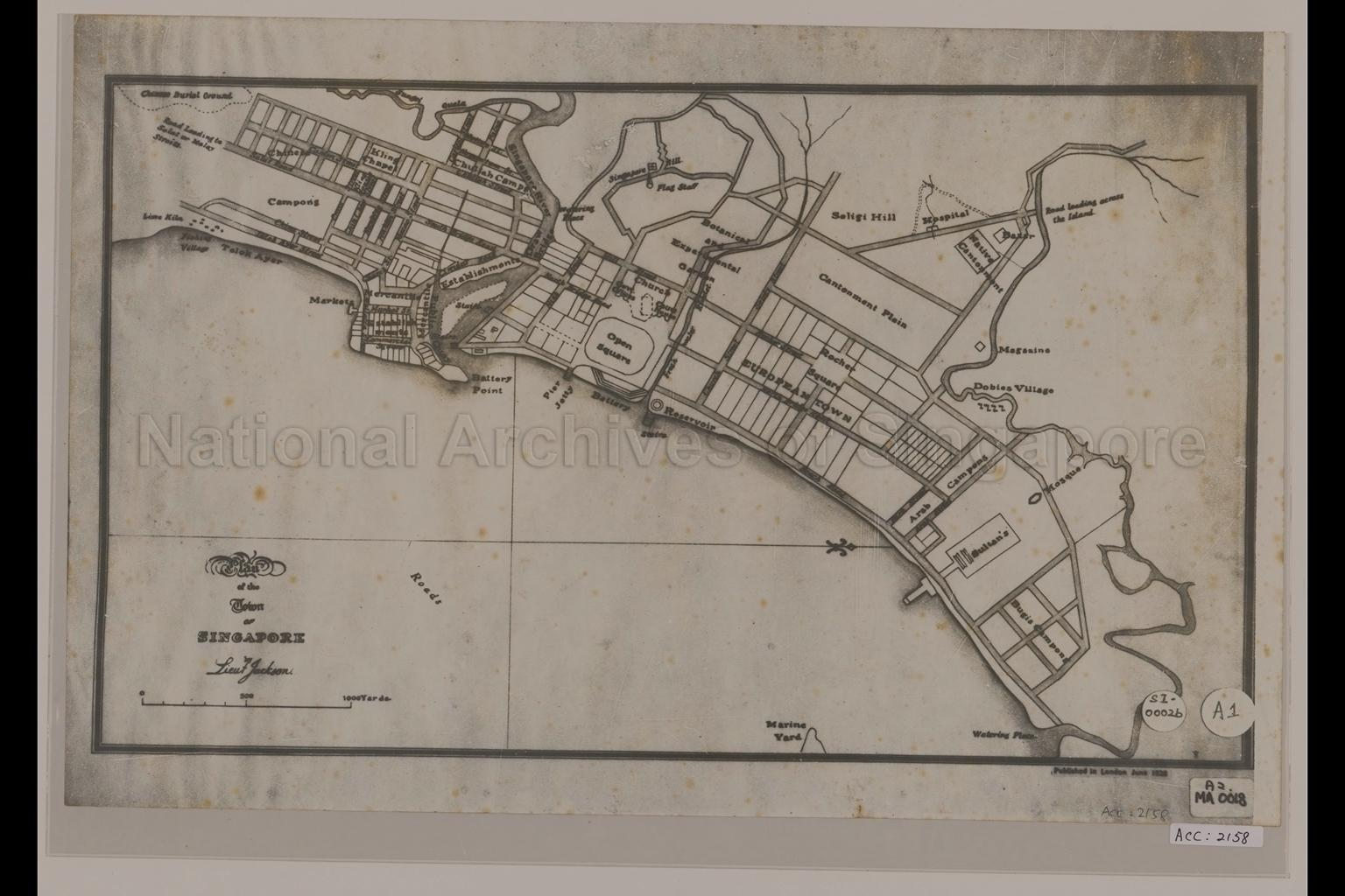 Plan of the Town of Singapore by Lieut Jackson