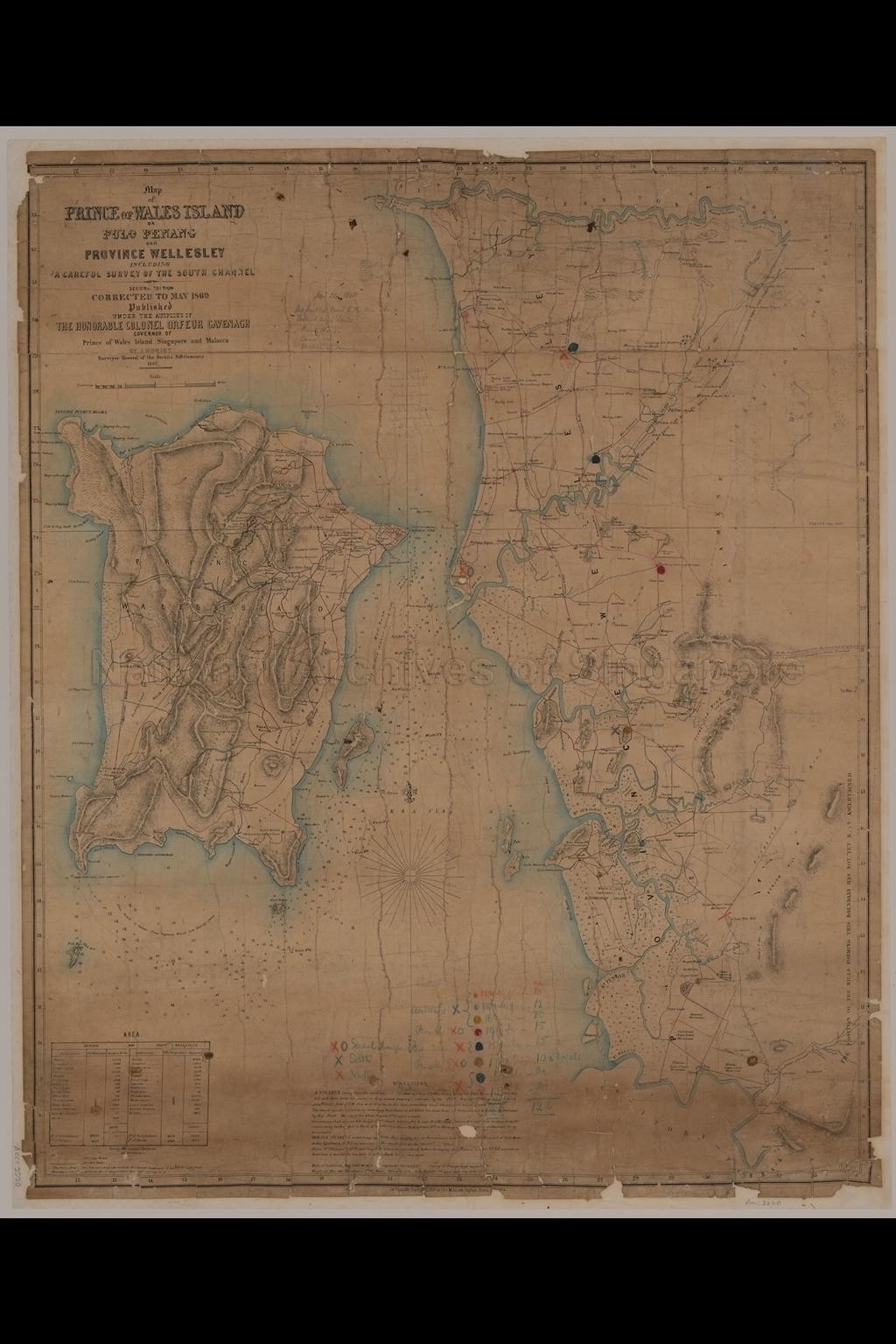 Map of Prince of Wales Island, or Pulo Penang and Province  …