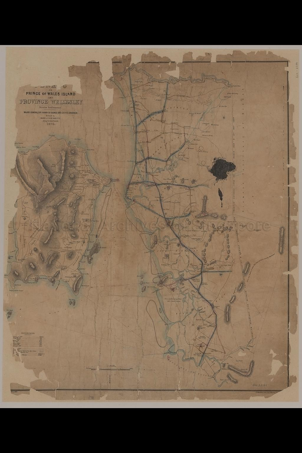 Map Of Prince Of Wales Island And Province Wellesley,  …
