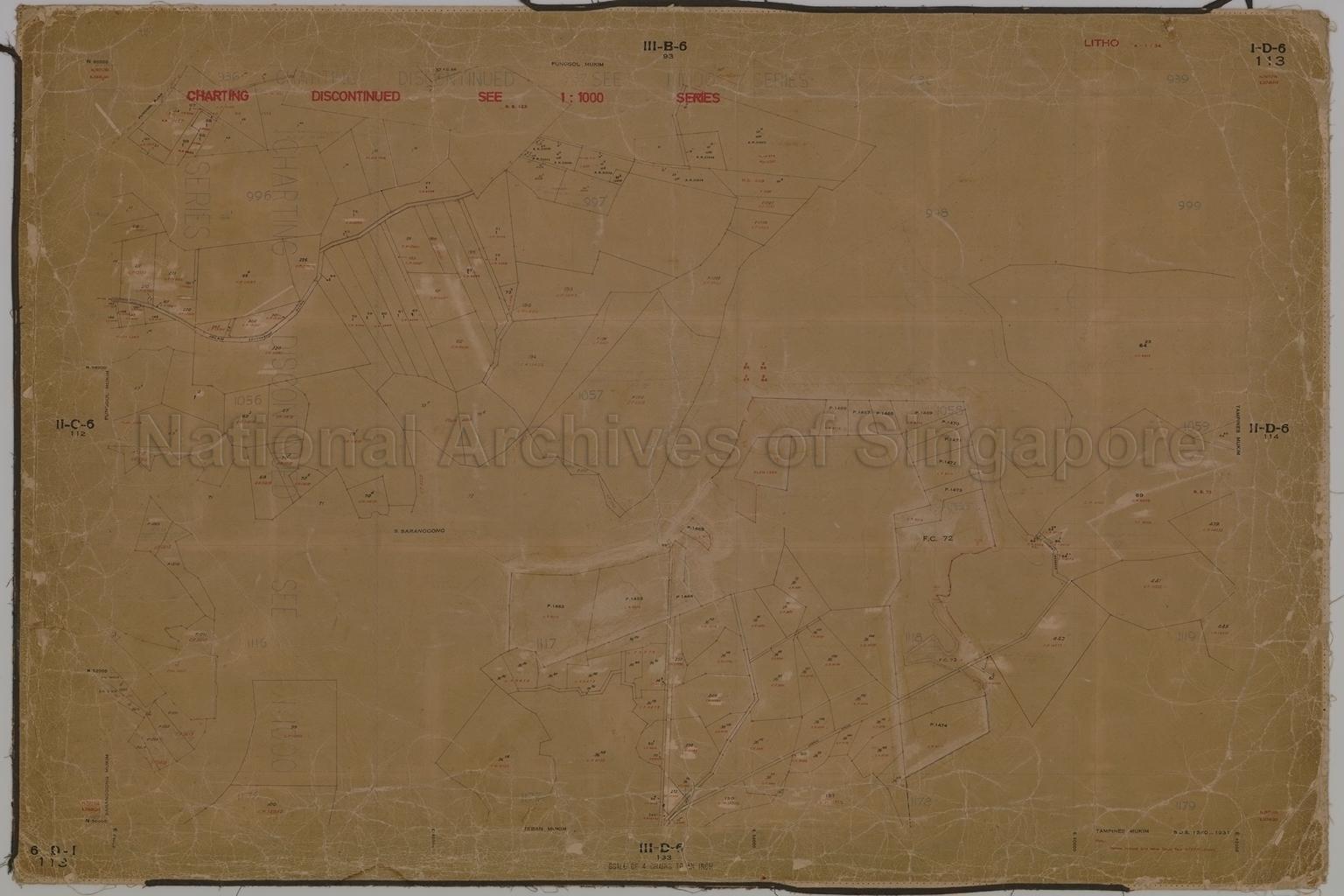 Punggol Mukim, Tampines Mukim, Teban Mukim, and Saranggong  …