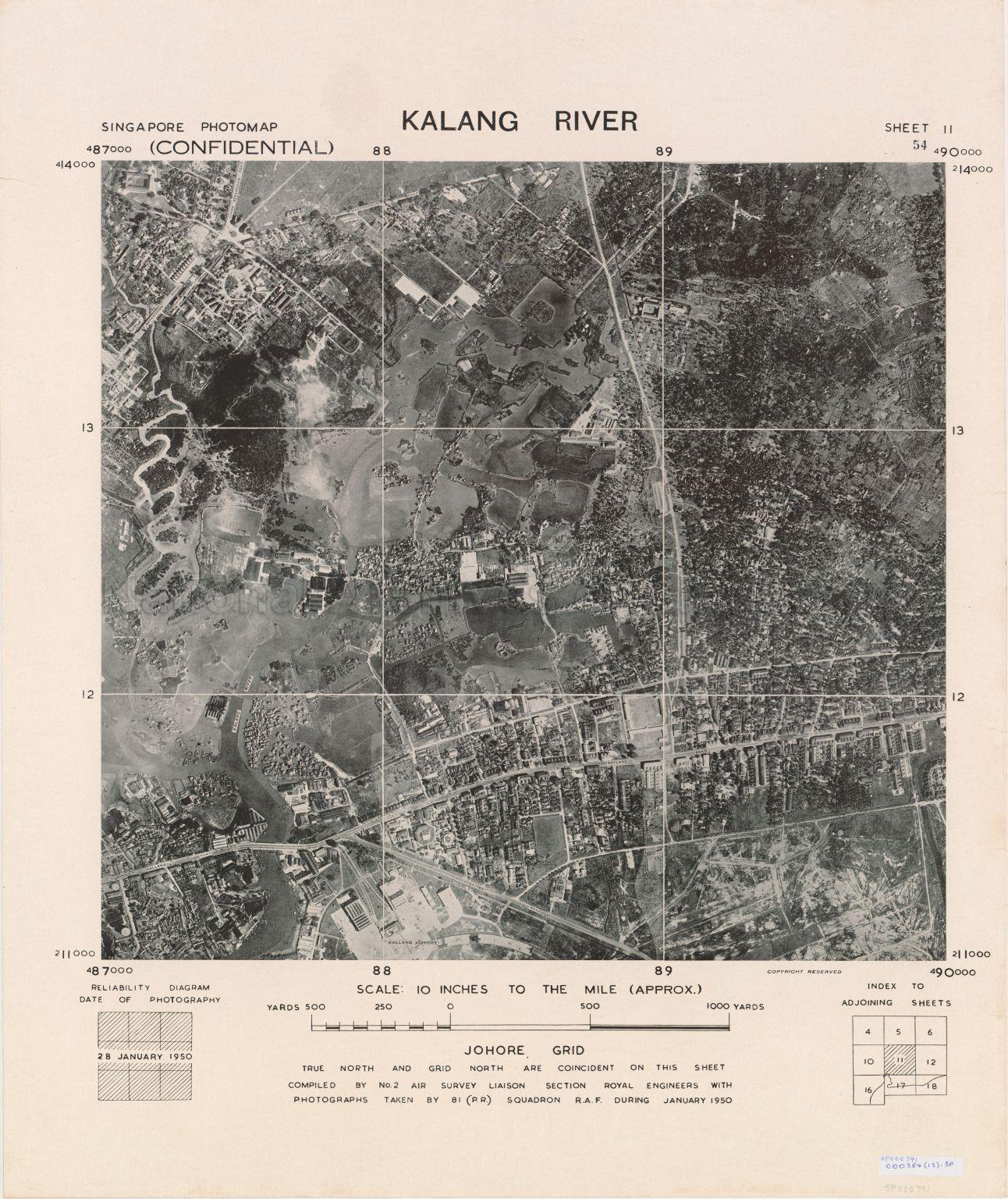 Singapore Photomap Kalang (Kallang) River