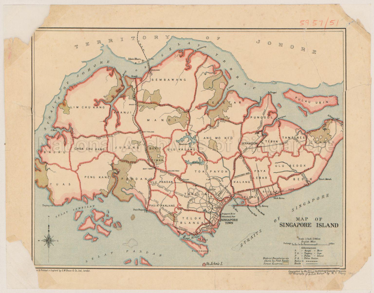 Map Of Singapore Island - Singapore map