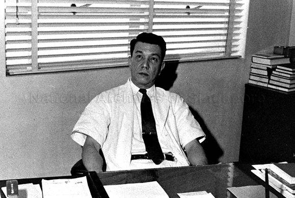 Dr Benjamin Henry Sheares in his office. Dr Sheares was Singapore's second President from 1971 to 1981.