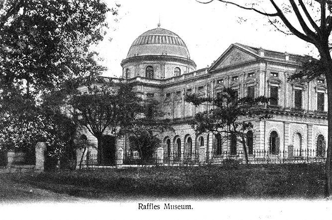 Raffles Library and Museum (now the National Museum of Singapore) at Stamford Road, Singapore