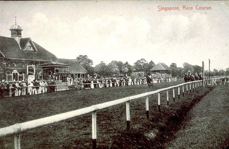 The old Race Course just off Serangoon Road, Singapore. This area is now known as Farrer Park.