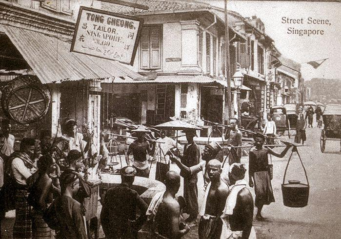 Street scene at the junction of South Bridge Road and Cross Street in Chinatown. Source: NAS