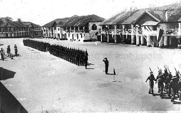 Passing out parade at Pulau Blakang Mati (Sentosa), Singapore