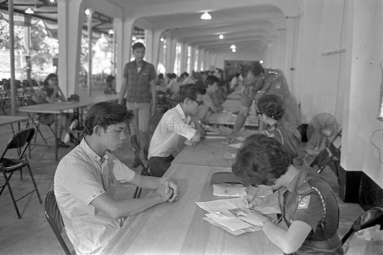 Registration excercise of first batch of National Service recruits - 29 March to 18 April 1967