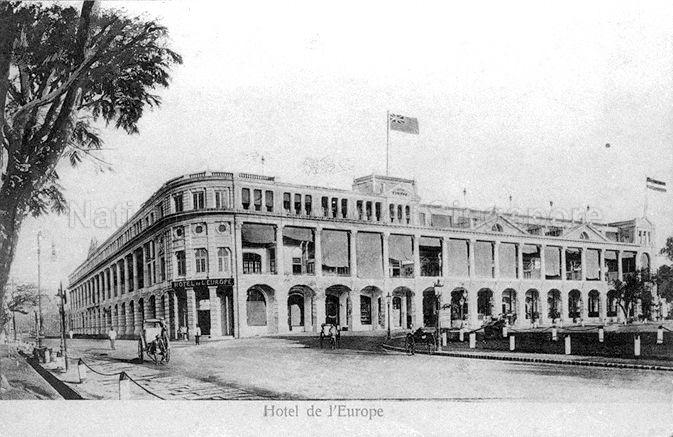 Grand Hotel de l'Europe, Singapore. Originally established by J Castelyns in 1857 as Hotel d'Europe, it was located first in Hill Street, then in Beach Road before moving here (along St Andrew's Road). The building at this location was demolished in early 1900s and the new one was named Grand Hotel de l'Europe. With management changing hands severally, it was renamed as The Europe Hotel in 1918. Its doors were closed in October 1932 and the building was later demolished, making way for the Supreme Court.