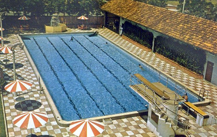 Swimming pool at Connell House, also popularly known as the Mariner's Club, located at 1 Anson Road, Singapore