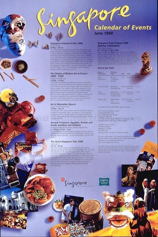 Singapore Calendar Of Events June 1998