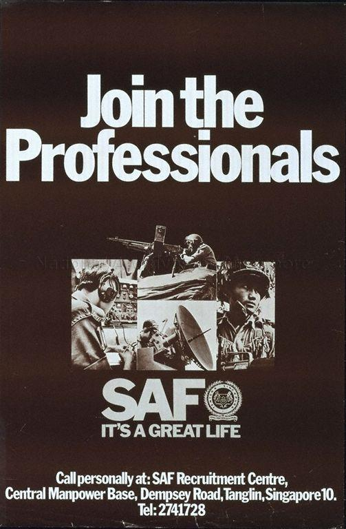 Join the professionals, SAF, it's a great life .