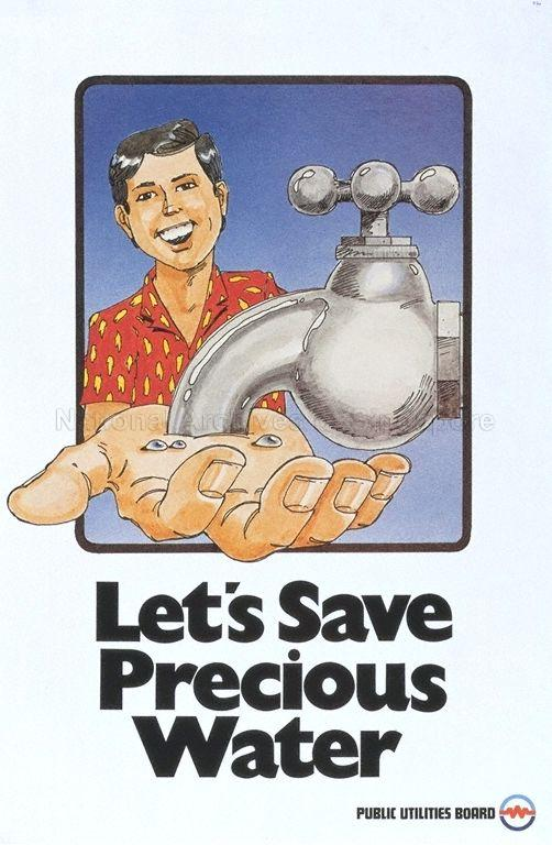 Let's save precious water .