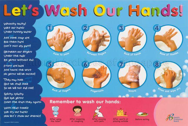instructions on how to wash your hands