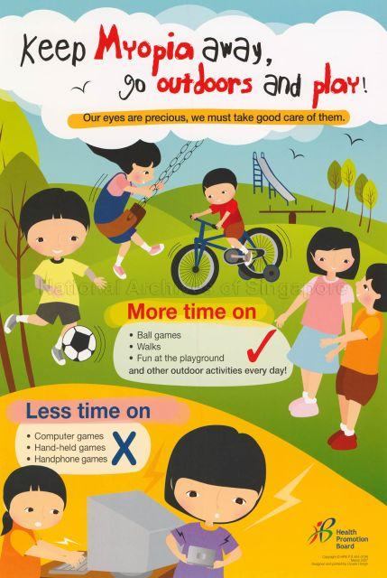 Keep Myopia away, go outdoors and play! Our eyes are precious, we must take good care of them.